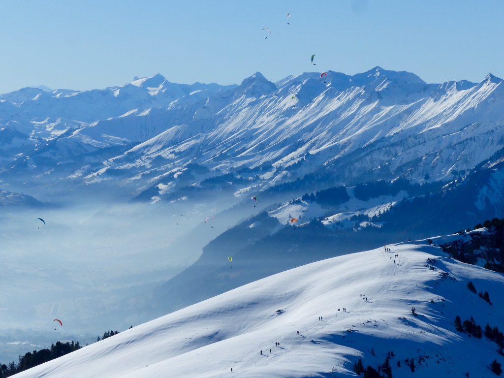 Winter Niederhorn Switzerland