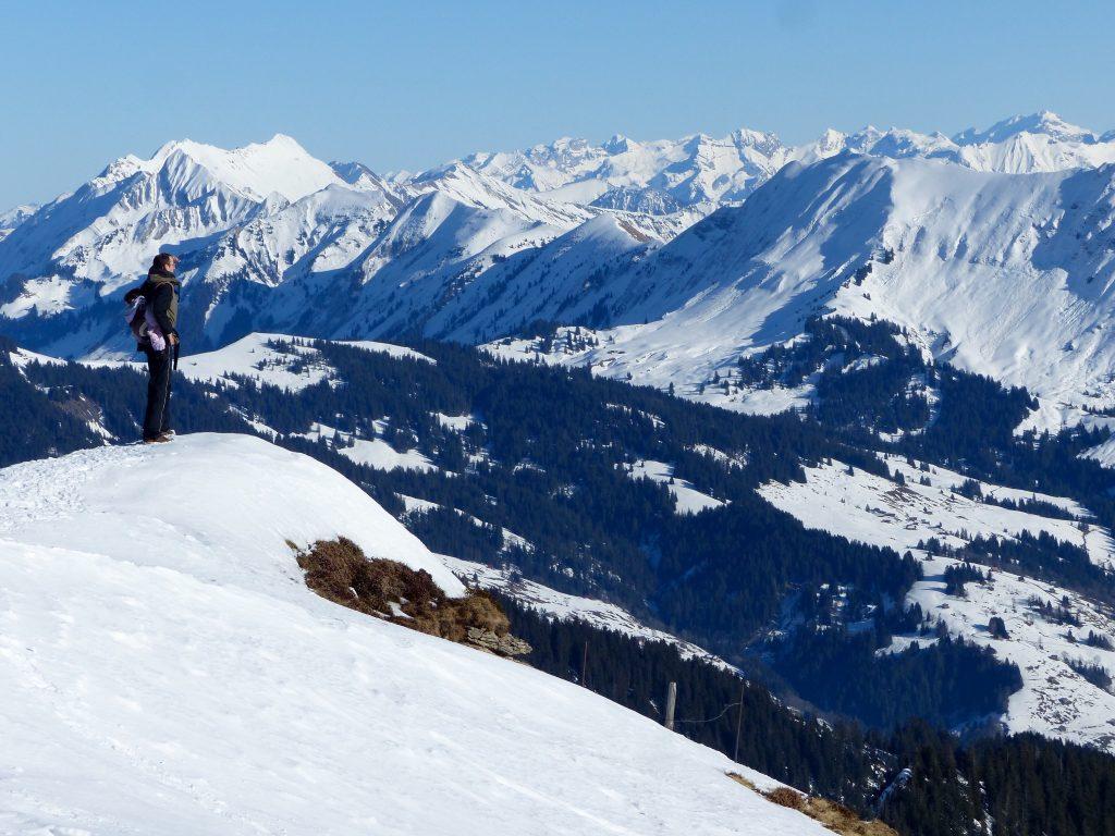 Winter walk Neiderhorn Burgerfeldstand Switzerland